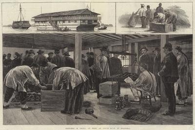 Sketches in China, on Board an Opium Hulk at Shanghai