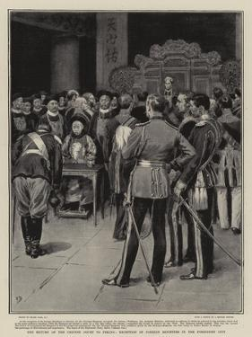 The Return of the Chinese Court to Peking, Reception of Foreign Ministers in the Forbidden City by Frank Dadd