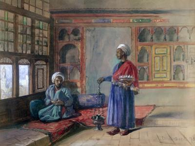 Apartment in the House of the Sheikh Sadat, Cairo, 1873 by Frank Dillon
