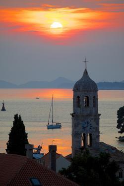 Adriatic Sunset, Cavtat, Dubrovnik Riviera, Dalmatian Coast, Dalmatia, Croatia, Europe by Frank Fell