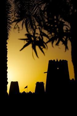 Al Jahili Fort at Sunset, Al Jahili Park, Al Ain, Abu Dhabi, United Arab Emirates, Middle East by Frank Fell