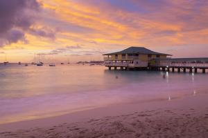 Brownes Beach sunset, St. Michael, Barbados, West Indies, Caribbean, Central America by Frank Fell