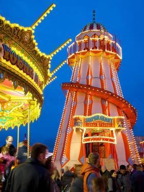 Helter Skelter, Goose Fair, Nottingham, Nottinghamshire, England, United Kingdom, Europe by Frank Fell