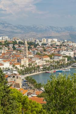 Panoramic view from above Split Town and Cathedral of Saint Domnius, Split, Croatia by Frank Fell