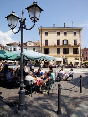 Piazza and Cafe, Menaggio, Lake Como, Lombardy, Italy, Europe by Frank Fell
