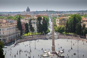 Piazza Del Popolo, Rome, Lazio, Italy, Europe by Frank Fell