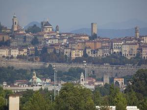 Skyline, Bergamo, Lombardy, Italy, Europe by Frank Fell