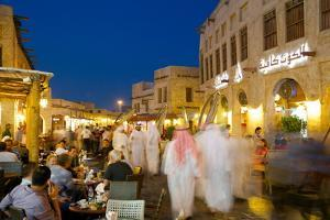 Souq Waqif at Dusk, Doha, Qatar, Middle East by Frank Fell