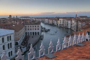 Sunset over rooftops, Venice, UNESCO World Heritage Site, Veneto, Italy, Europe, by Frank Fell