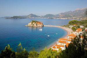 Sveti Stefan, Budva Bay, Budva Riviera, Montenegro, Europe by Frank Fell