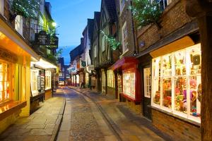 The Shambles at Christmas, York, Yorkshire, England, United Kingdom, Europe by Frank Fell