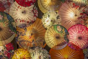 Umbrellas in Kuanxiangzi Alley, Chengdu, Sichuan Province by Frank Fell