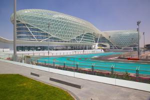 Viceroy Hotel and Formula 1 Racetrack, Yas Island, Abu Dhabi, United Arab Emirates, Middle East by Frank Fell