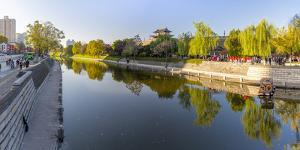 View of moat and City wall of Xi'an, Shaanxi Province by Frank Fell