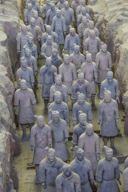 View of Terracotta Warriors in the Tomb Museum, Xi'an, Shaanxi Province by Frank Fell