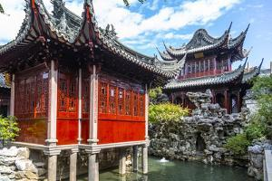 View of traditional Chinese architecture in Yu Garden, Shanghai, China by Frank Fell