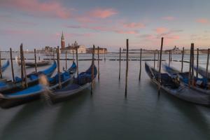 View to San Giorgio Maggiore and Gondola Service, Venice, UNESCO World Heritage Site, Veneto, Italy by Frank Fell