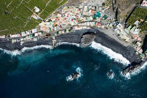 Fishing Village Playa Bombilla, La Palma, Aerial Picture, Canary Islands, Spain by Frank Fleischmann