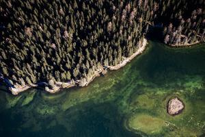 Misurinasee in the Dolomites with Cortina in Autumn, Aerial Shots, Italy by Frank Fleischmann