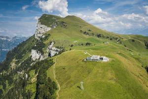 Niderbauen, Mountain Seelis, Aerial Picture, Emmetten, Zentralschweiz, Region of Vierwaldstättersee by Frank Fleischmann