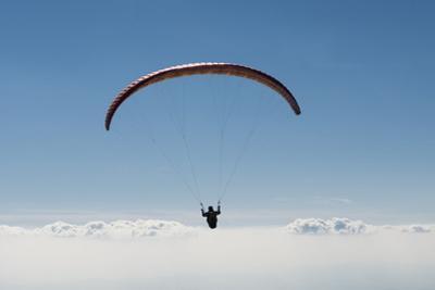 Paraglider, Above the Clouds, Aviation, Paragliding, Blue Sky, Inversion, Bassano, Veneto, Italy by Frank Fleischmann