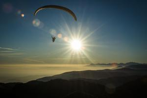 Paragliding in Monte Grappa, Autumn, Inversion Weather Condition, Aerial Shots, the Italy by Frank Fleischmann