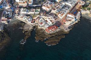 Tenerife, La Caleta, Aerial Picture, Fishing Village, Beach by Frank Fleischmann