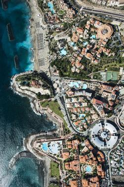 Wellness Hotel with Black Beach and View Rock, Aerial Picture, Canary Islands, Spain by Frank Fleischmann
