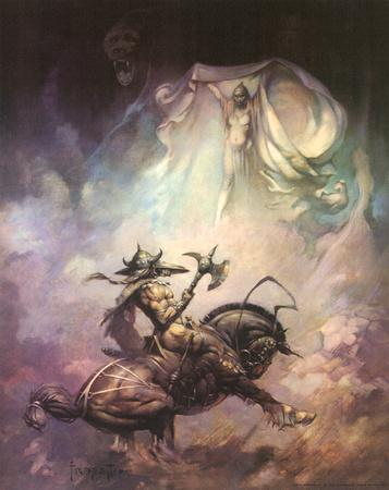 Apparition (cover art for Brak the Barbarian vs. the Sorceress)