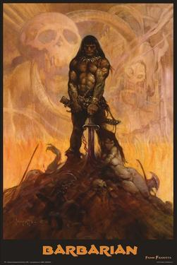 Barbarian by Frank Frazetta