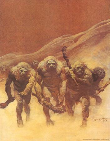 Caveman (cover art for Creepy #15 and Creepy #83) by Frank Frazetta
