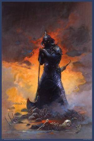 Death Dealer Three by Frank Frazetta