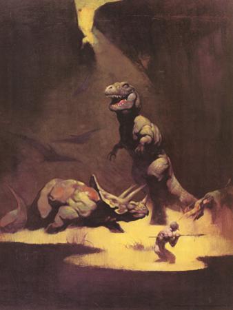 Dinosaurs by Frank Frazetta