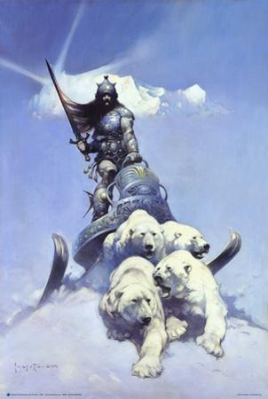 Silver Warrior by Frank Frazetta