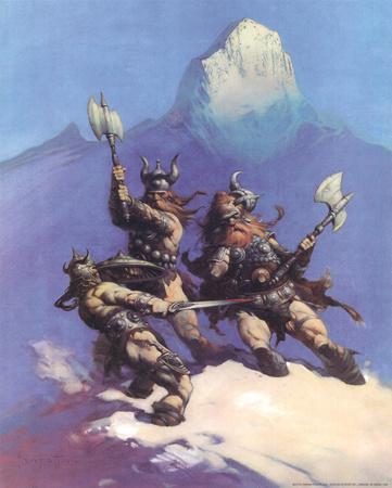 Snow Giants (cover art for Conan of Cimmeria)