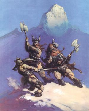 Snow Giants (cover art for Conan of Cimmeria) by Frank Frazetta