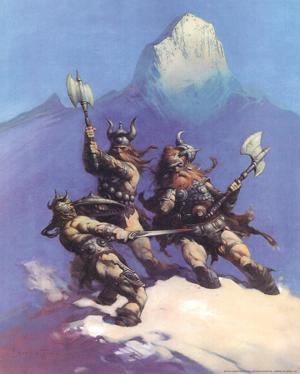 Snow Giants (cover art for Conan of Cimmeria) by Frank Frazetta
