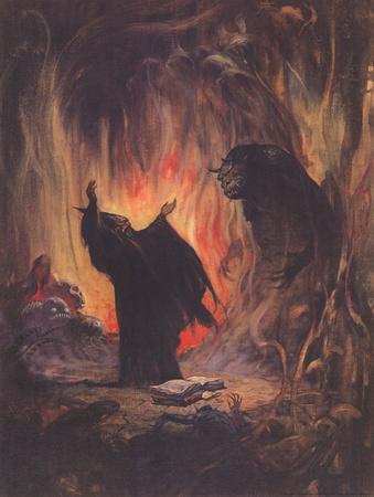 Sorceror (cover art for Eerie #2)