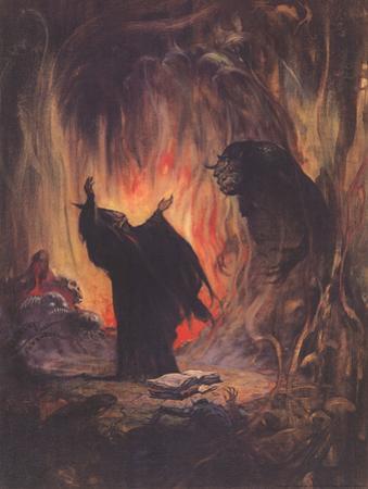 Sorceror (cover art for Eerie #2) by Frank Frazetta