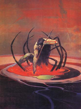 Spider and Man by Frank Frazetta
