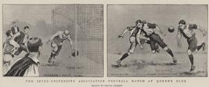 The Inter-University Association Football Match at Queen's Club by Frank Gillett