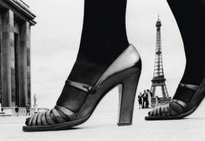 Shoes and Eiffel Tower, Paris, 1974 by Frank Horvat