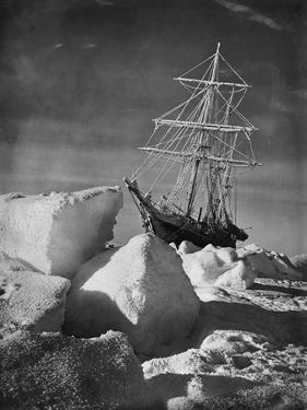 Endurance Trapped in Ice by Frank Hurley