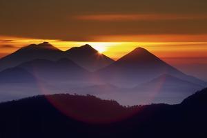 Acatenango, Fuego, and Atitlan Volcanoes by Frank Krahmer