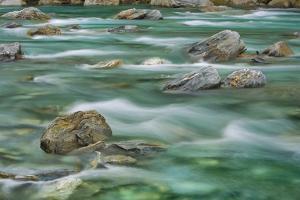 Brook Impression near Thunder Creek Falls with Rocks by Frank Krahmer