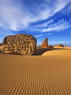 Eroded landscape in Tassili du Hoggar by Frank Krahmer