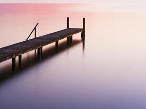Footbridge at Lake Starnberg by Frank Krahmer