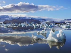 Ice washed ashore glacier at Joekulsarlon by Frank Krahmer