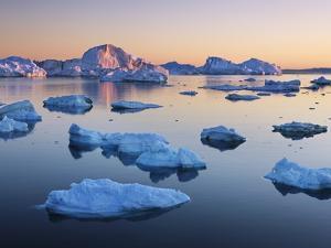 Icebergs in Disko Bay by Frank Krahmer