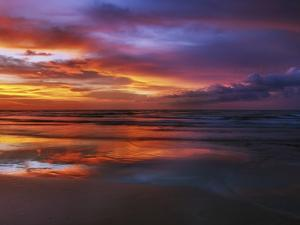 Magnificent sunset with monsoon clouds by Frank Krahmer